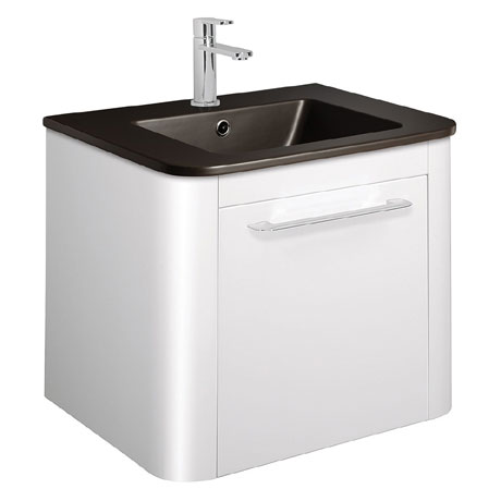 Bauhaus - Celeste Vanity Unit with Plus+Ton Basin - White Gloss - 3 Size Options