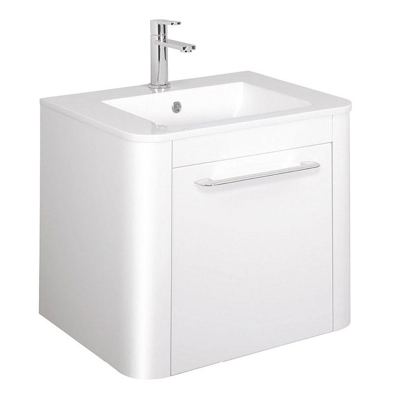 Bauhaus Celeste Vanity Unit with Basin - White Gloss Large Image
