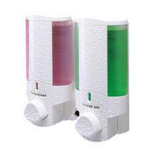 Dolphin - Double Plastic Shower Dispenser - White -  BC624-2W Medium Image
