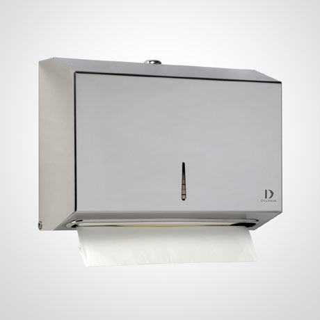 Dolphin - Surface Mounted Stainless Steel Mini Paper Towel Dispenser - BC918