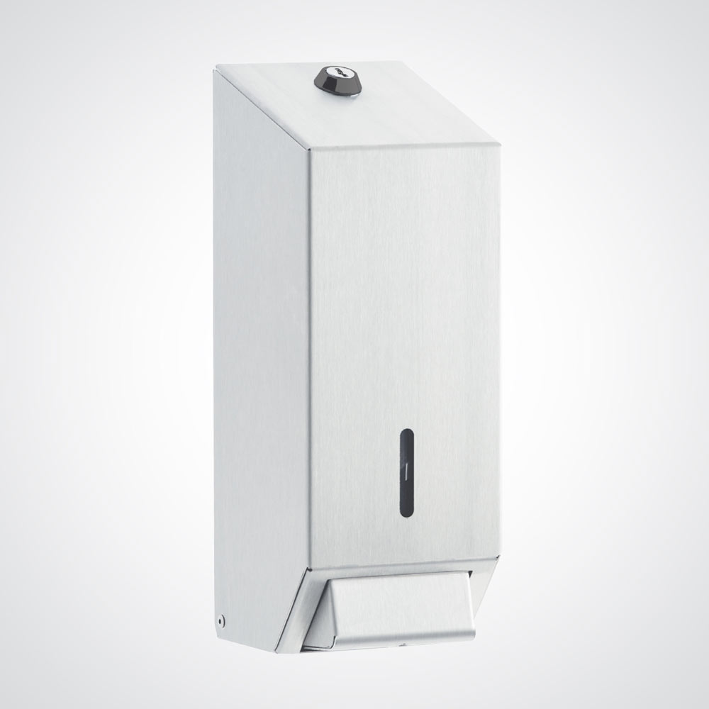 Dolphin - Surface Mounted Metal Soap Dispenser - White - BC924W