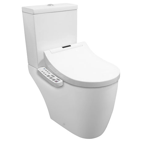 Bianco Smart Toilet with Bidet Wash Function, Heated Seat + Dryer