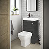 Brooklyn 500mm Hacienda Black 2-In-1 Combined Wash Basin & Toilet profile small image view 1