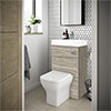 Brooklyn 500mm Driftwood 2-In-1 Combined Wash Basin & Toilet profile small image view 1