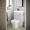 Brooklyn 500mm Grey Mist 2-In-1 Combined Wash Basin & Toilet profile small image view 1