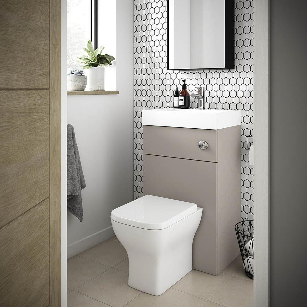 Brooklyn 500mm Stone Grey 2-In-1 Combined Wash Basin & Toilet