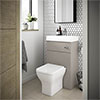 Brooklyn 500mm Stone Grey 2-In-1 Combined Wash Basin & Toilet profile small image view 1