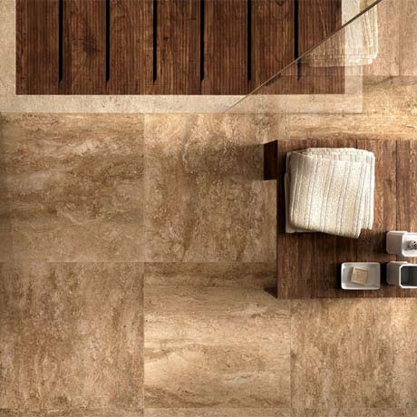 Bosa Marbled Brown Floor Tile (Matt - 450 x 450mm)