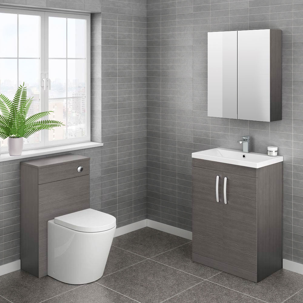 Brooklyn Cloakroom Suite (Grey Avola)