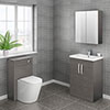 Brooklyn Cloakroom Suite (Grey Avola) profile small image view 1