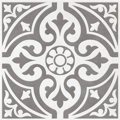 9 Devonstone Grey Feature Floor Tiles - 331x331mm - BCT11064