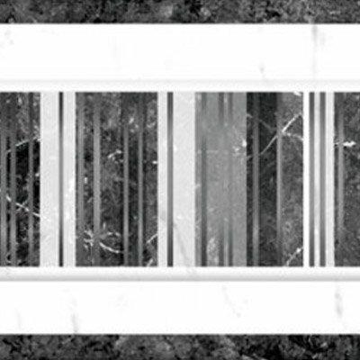 BCT Tiles - 6 Elgin Marbles White/Black Gloss Strips - 248x80mm - BCT03755 Profile Large Image