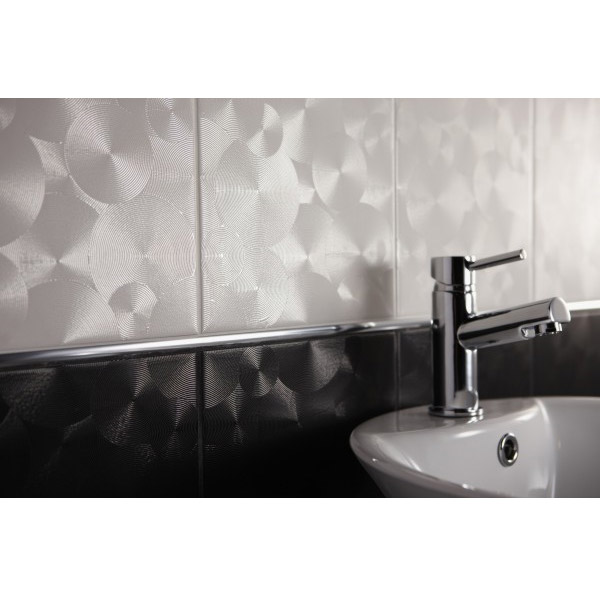 BCT Tiles - 10 Saturn Lunar White Wall Satin Tiles - 248x398mm - BCT11262 Feature Large Image