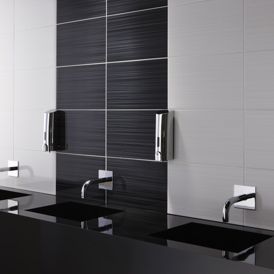 BCT Tiles - 10 Brighton Black Wall Gloss Tiles - 248x398mm - BCT12207 Profile Large Image