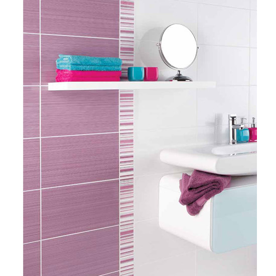 BCT Tiles - 6 Brighton Pavilion Lilac Strips - 248x80mm - BCT12276 Feature Large Image