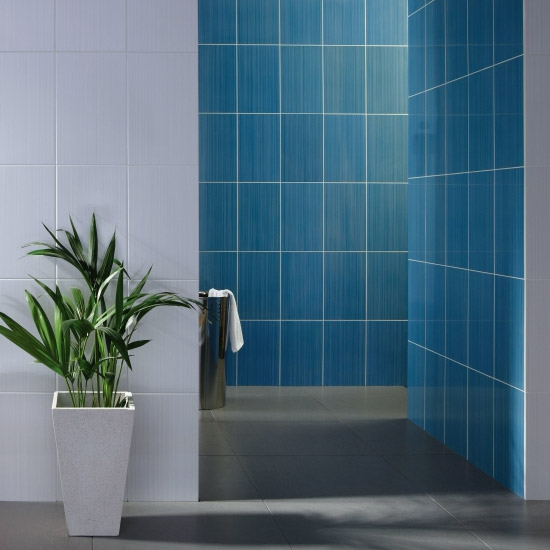 BCT Tiles - 10 Brighton Blue Wall Gloss Tiles - 248x398mm - BCT12306 Profile Large Image
