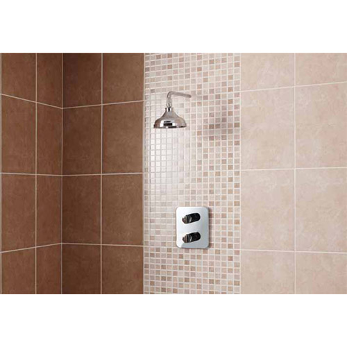 BCT Tiles - 10 Elgin Cappuccino Beige Mosaic Wall Gloss Tiles - 248x398mm - BCT12696 Feature Large Image