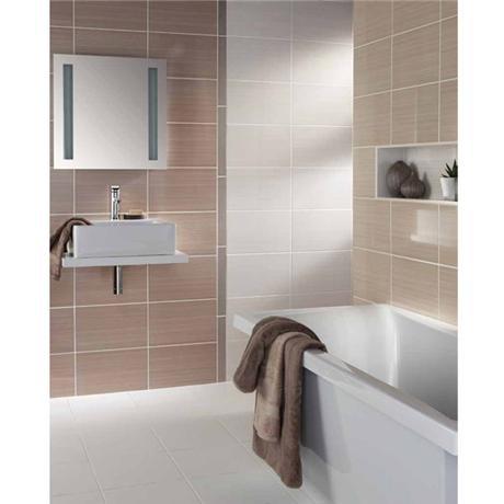 BCT Tiles Brighton Truffle Wall Gloss Tiles - BCT14560
