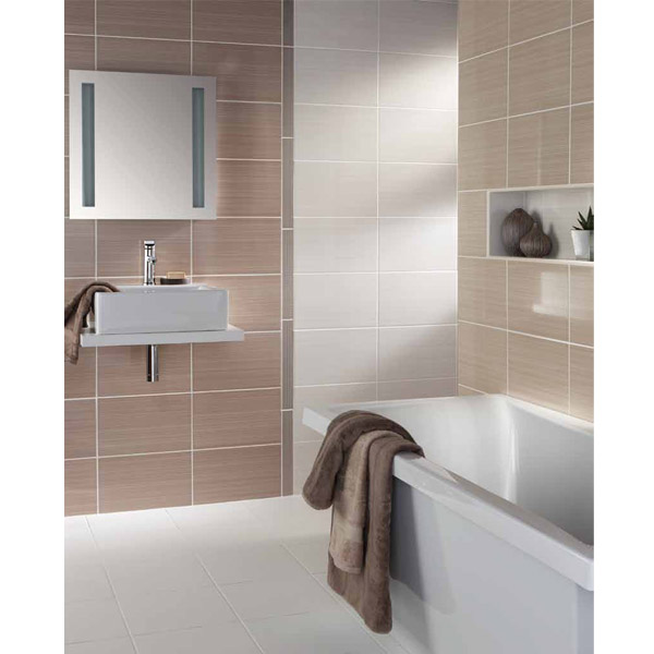 BCT Tiles - 10 Brighton Grey Wall Gloss Tiles - 248x398mm - BCT14577 Feature Large Image