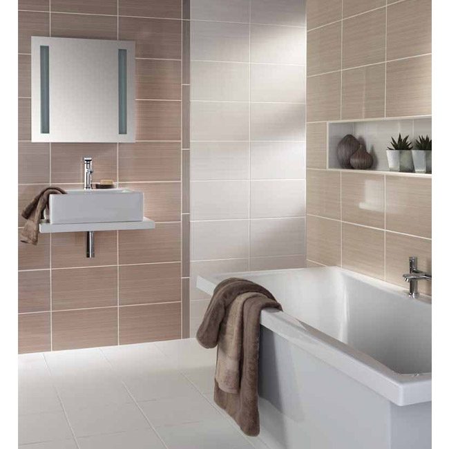 BCT Tiles - 6 Brighton Shine Warm Strips - 398x50mm - BCT14614 Profile Large Image