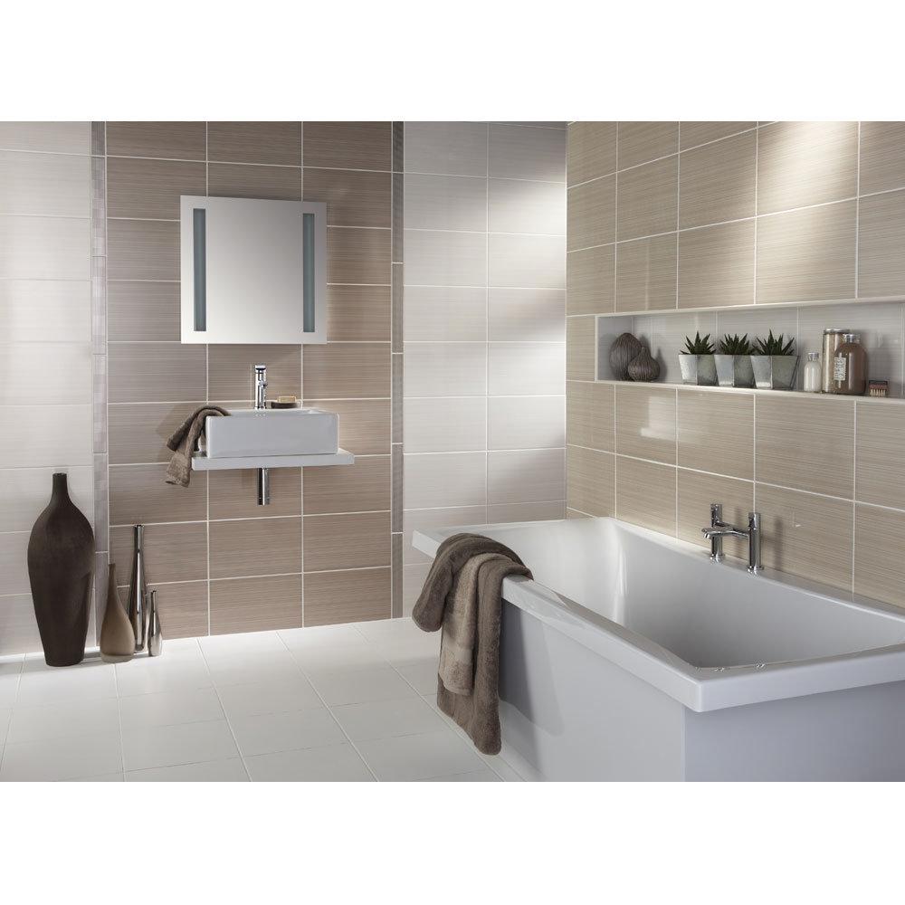 BCT Tiles - 9 Brighton White Floor Gloss Tiles - 331x331mm - BCT17417 Profile Large Image