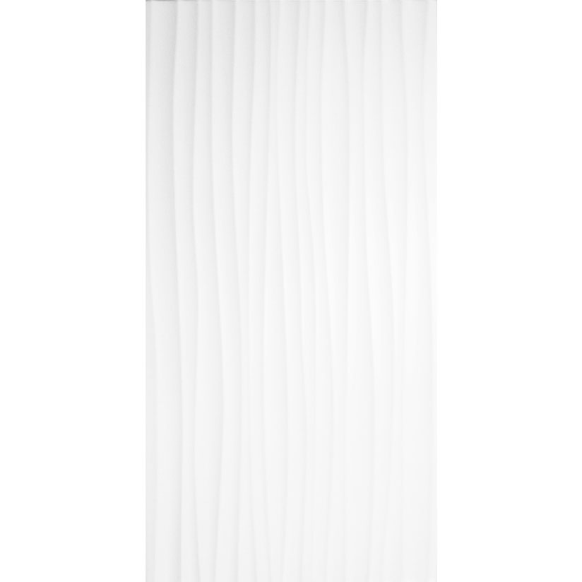 Bct Tiles 8 Form Wave White Gloss Wall Tiles 248x498mm
