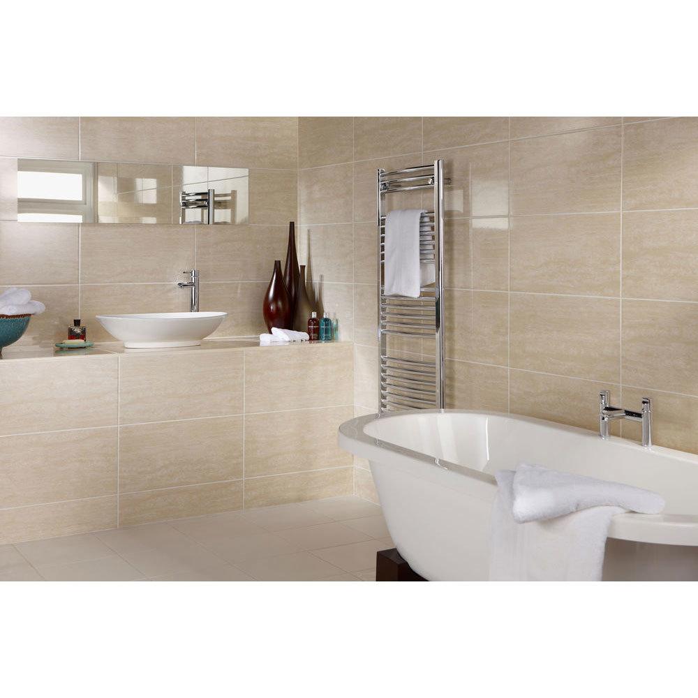 9 Parallel Light Beige Gloss High Definition Floor Tiles
