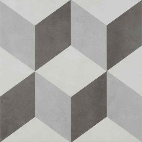 BCT Tiles - 9 Illusion Grey Feature Floor Tiles - 331x331mm - BCT28710