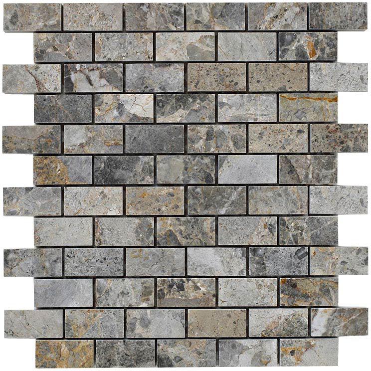 BCT Tiles Naturals Lemon Marble Brick Mosaic Tiles - 300 x 300mm - BCT38290 Large Image