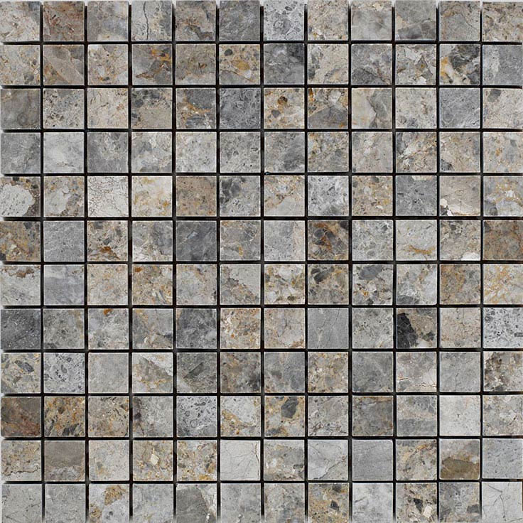 BCT Tiles Naturals Lemon Marble Square Mosaic Tiles - 300 x 300mm - BCT38306  Profile Large Image
