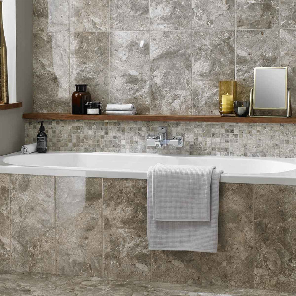 BCT Tiles Naturals Lemon Marble Square Mosaic Tiles - 300 x 300mm - BCT38306 Large Image