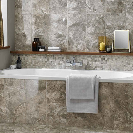 BCT Tiles Naturals Lemon Marble Square Mosaic Tiles - 300 x 300mm - BCT38306