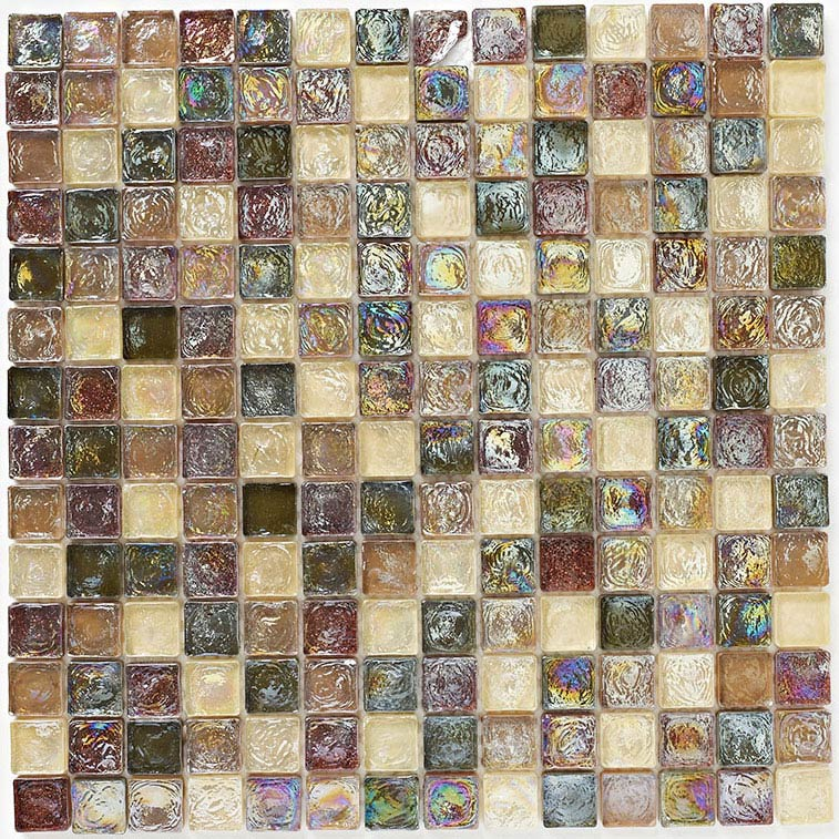 BCT Tiles Naturals Hammered Glass Natural Mosaic Tiles - 305 x 305mm - BCT38474 Large Image