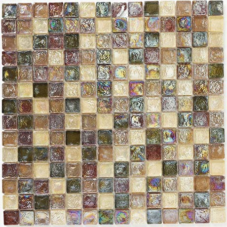 BCT Tiles Naturals Hammered Glass Natural Mosaic Tiles - 305 x 305mm - BCT38474
