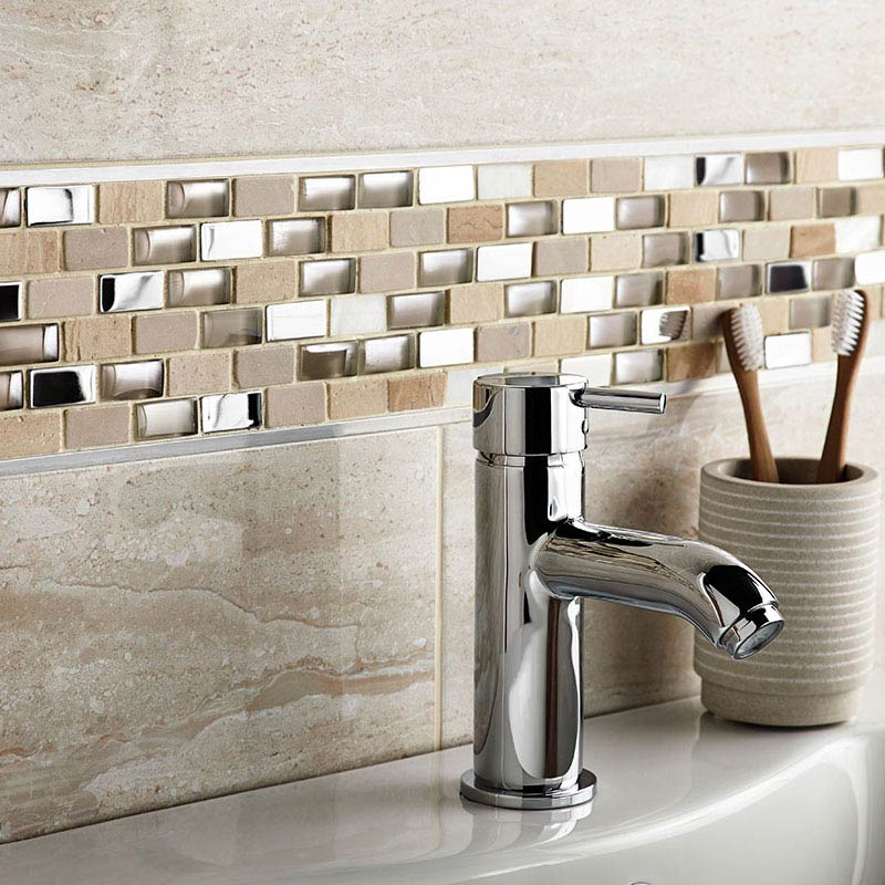 BCT Tiles Naturals Stone/Glass/Metal/Pearl Mix Mosaic Tiles - 300 x 300mm - BCT38498  Profile Large Image