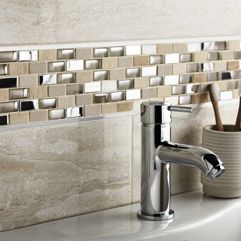 BCT Tiles Naturals Stone/Glass/Metal/Pearl Mix Mosaic Tiles - 300 x 300mm - BCT38498 Large Image