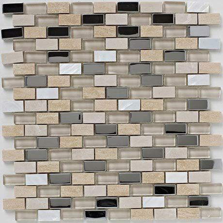 BCT Tiles Naturals Stone/Glass/Metal/Pearl Mix Mosaic  Tiles - 300 x 300mm - BCT38498