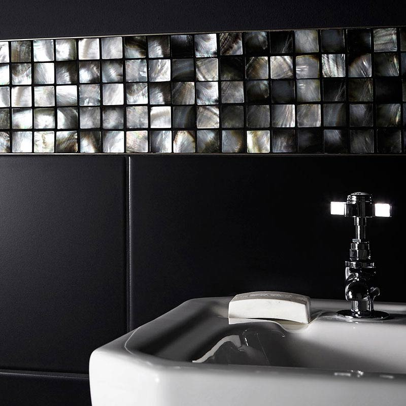 BCT Tiles Luxe Mother Of Pearl Mosaic Dark Tiles - 305 x 305mm - BCT38566  Profile Large Image