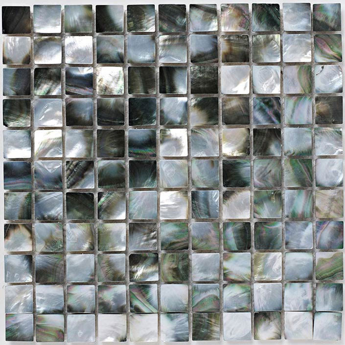 BCT Tiles Luxe Mother Of Pearl Mosaic Dark Tiles - 305 x 305mm - BCT38566  Feature Large Image