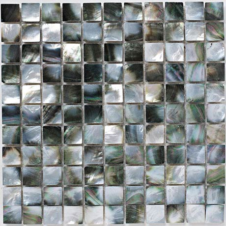 BCT Tiles Luxe Mother Of Pearl Mosaic Dark Tiles - 305 x 305mm - BCT38566