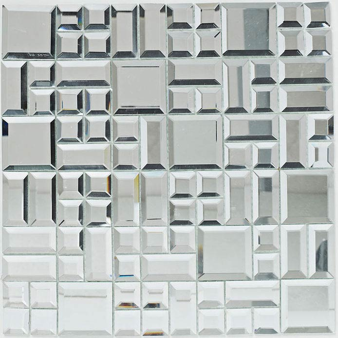 BCT Tiles Luxe Random Mirror Mosaic Tiles - 300 x 300mm - BCT38573 Large Image