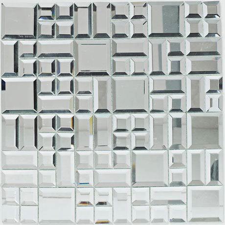 BCT Tiles Luxe Random Mirror Mosaic Tiles - 300 x 300mm - BCT38573