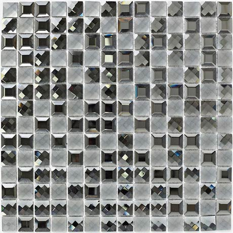 BCT Tiles Luxe Faceted Glass Mosaic Tiles - 300 x 300mm - BCT38597