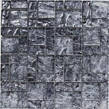 BCT Tiles Luxe Silver Foil Glass Mosaic Tiles - 300 x 300mm - BCT38610