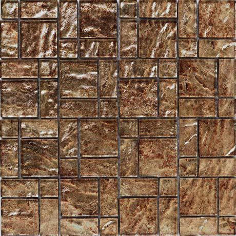 BCT Tiles Luxe Bronze Foil Glass Mosaic Tiles - 300 x 300mm - BCT38627