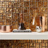 BCT Tiles Luxe Bronze Foil Glass Mosaic Tiles - 300 x 300mm - BCT38627 Small Image