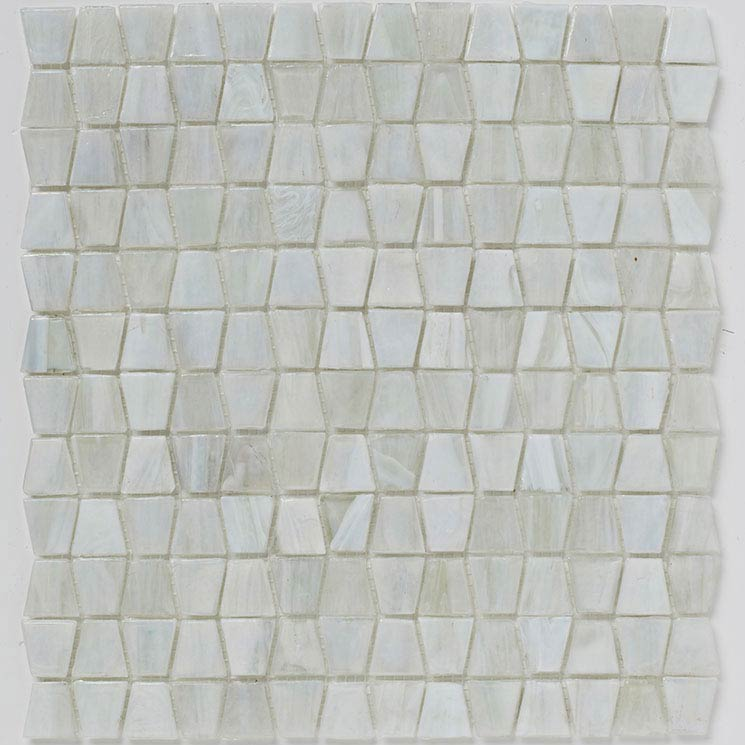 BCT Tiles Luxe White Glacier Glass Mosaic Tiles - 300 x 300mm - BCT38634 Large Image