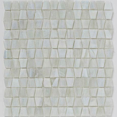 BCT Tiles Luxe White Glacier Glass Mosaic Tiles - 300 x 300mm - BCT38634
