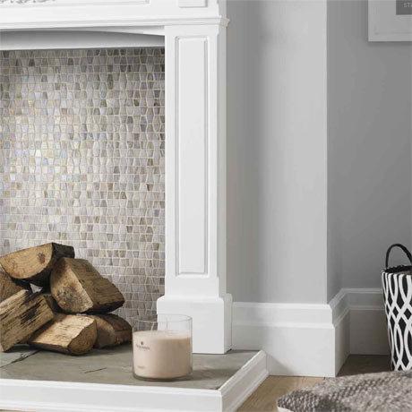BCT Tiles Luxe White Glacier Glass Mosaic Tiles - 300 x 300mm - BCT38634