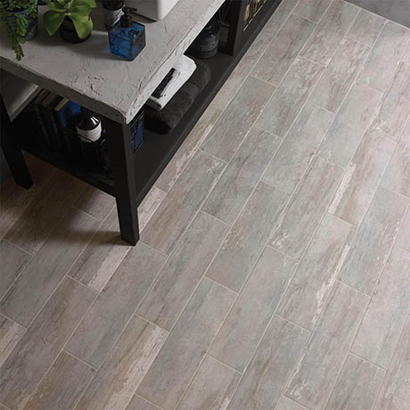 BCT Tiles Distressed Wood Blue Wall & Floor Tiles 148 x 498mm - BCT56805